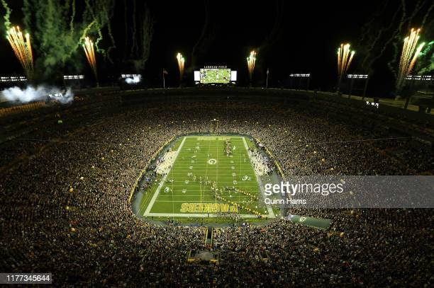 General view of Lambeau Field prior to a game between the Green Bay Packers and the Philadelphia Eagles on September 26, 2019 in Green Bay, Wisconsin.