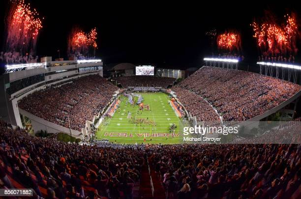 A general view of Lane Stadium prior to the game between the Virginia Tech Hokies and Clemson Tigers on September 30 2017 in Blacksburg Virginia