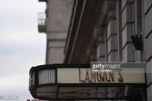 General view of Langan's Brasserie on November 21, 2020 in London, England. Many of London's bars, clubs and restaurants are facing an uncertain...