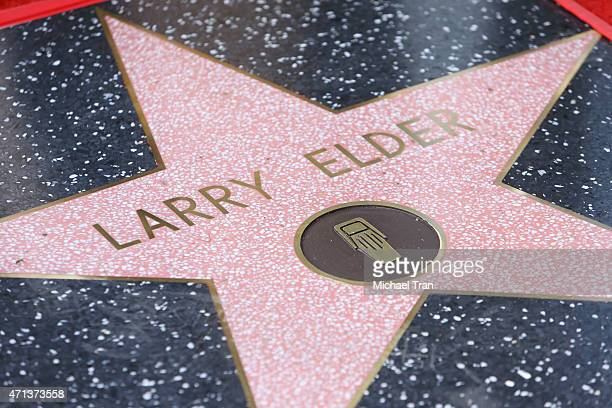 A general view of Larry Elder's Star at the ceremony honoring him on The Hollywood Walk of Fame on April 27 2015 in Hollywood California