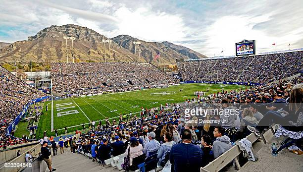 General view of LaVell Edwards Stadium during the game between the Southern Utah Thunderbirds and the Brigham Young Cougars on November 12, 2016 in...