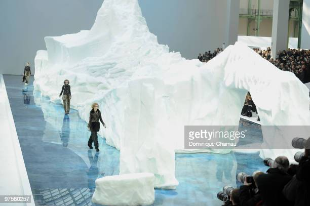 General view of Le Grand Palais during the Chanel Ready to Wear show as part of the Paris Womenswear Fashion Week Fall/Winter 2011 at Grand Palais on...