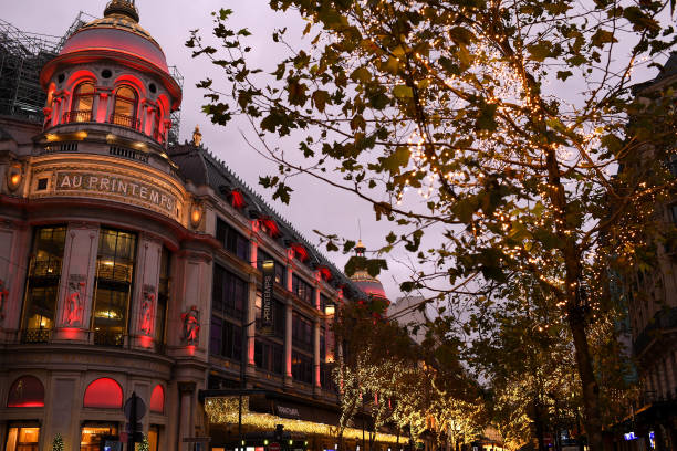 FRA: Le Printemps Flagship Store Launches Its Christmas Decorations And Lights