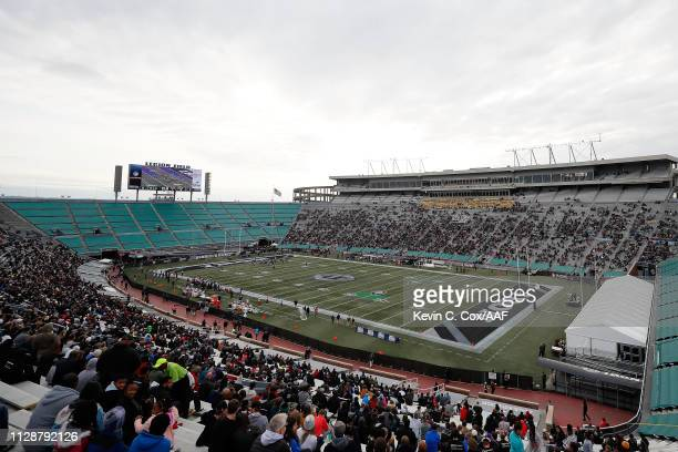 A general view of Legion Field during an Alliance of American Football game between the Birmingham Iron and the Memphis Express on February 10 2019...