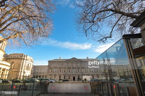 General view of Leinster House, the seat of the Oireachtas, the parliament of Ireland. On January 10 in Dublin, Ireland.