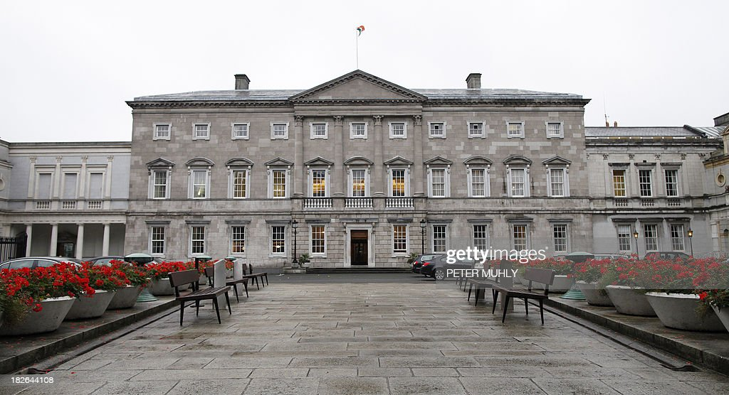 IRELAND-POLITICS-FINANCE-ECONOMY : News Photo