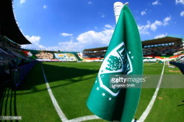 General view of Leon Stadium aprior the match between Pachuca and Atletico San Luis as part of the friendly tournament Copa Telcel at Leon Stadium on...