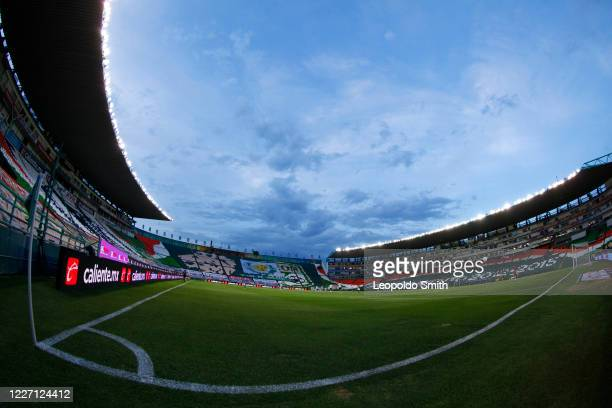 General view of Leon Stadium prior a match between Leon and FC Juarez as part of the friendly tournament Copa Telcel at Leon Stadium on July 14 2020...