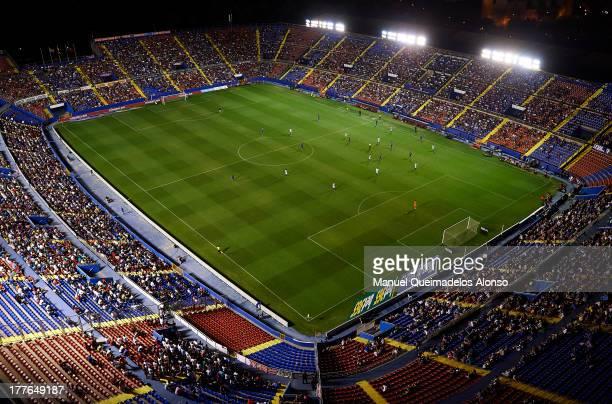 General view of Levante UD Stadium Ciutat de Valencia during the La Liga match between Levante UD and Sevilla FC at Ciutat de Valencia Stadium on...