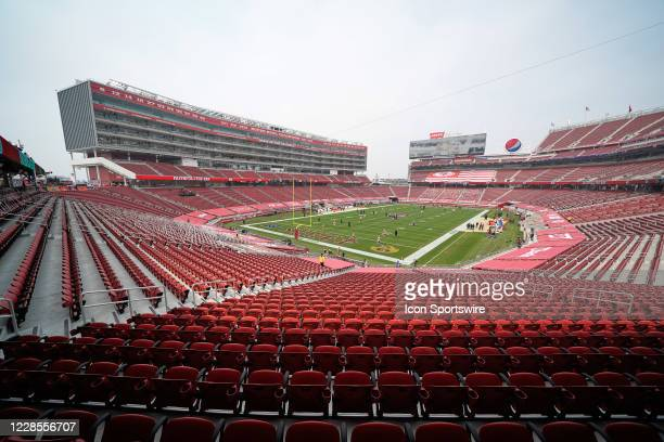 General view of Levi's Stadium during the NFL game between the San Francisco 49ers and the Arizona Cardinals on September 13 at Levi's Stadium in...