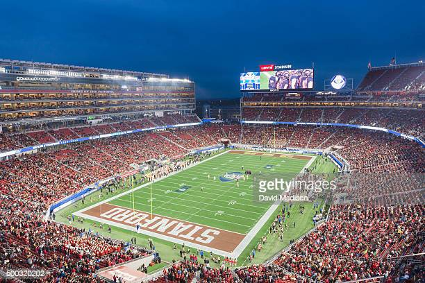 A general view of Levi's Stadium during the Pac12 Championship Game between the Stanford Cardinal and the USC Trojans on December 5 2015 in Santa...