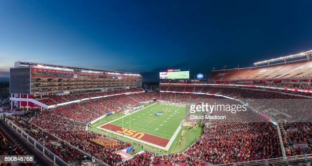 General view of Levi's Stadium during the Pac-12 Championship game between the Stanford Cardinal and the USC Trojans on December 1, 2017 at Levi's...