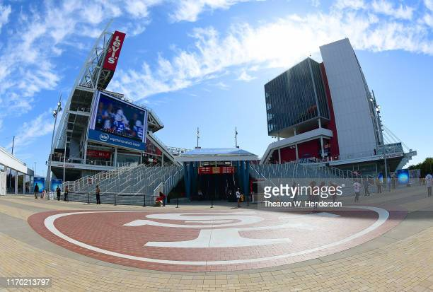 "General view of Levi's stadium inside of the ""Intel Gate A"" prior to the start of an NFL football game between the Pittsburgh Steelers and San..."