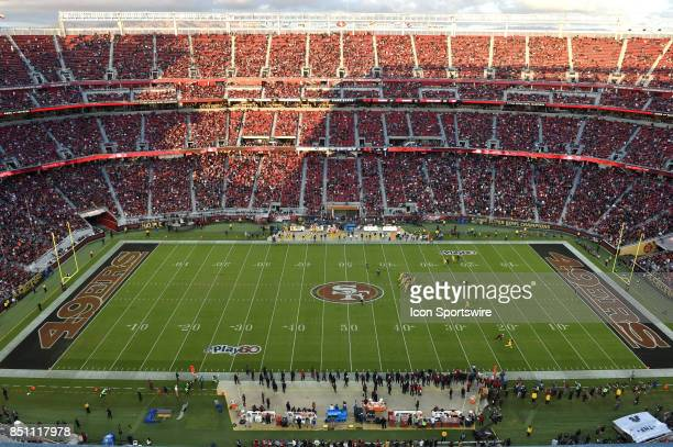 General view of Levi's Stadium while play is in progress in the 2nd quarter during an NFL game between the Los Angeles Rams and the San Francisco...