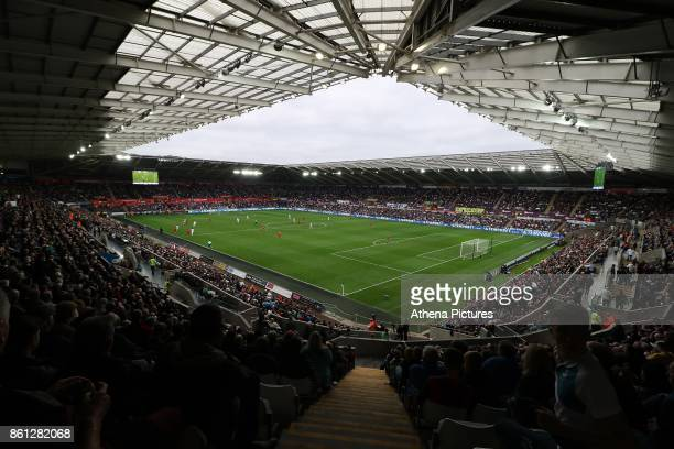 A general view of Liberty Stadium during the Premier League match between Swansea City and Huddersfield Town at The Liberty Stadium on October 14...