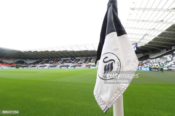 A general view of Liberty Stadium prior to kick off of the Premier League match between Swansea City and Manchester United at The Liberty Stadium on...