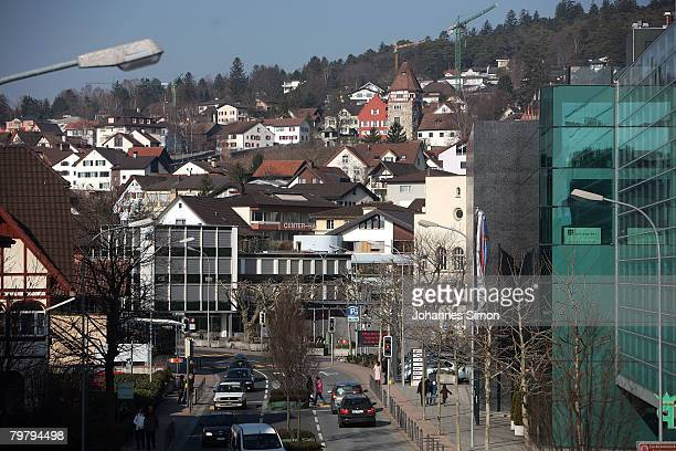 General view of Liechtenstein inner city, seen on February 16, 2008 in Vaduz, Liechtenstein. The ministate is known as financial loophole for tax...