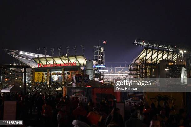 A general view of Lincoln Financial Field before the 2019 Coors Light NHL Stadium Series between the Philadelphia Flyers and the Pittsburgh Penguins...