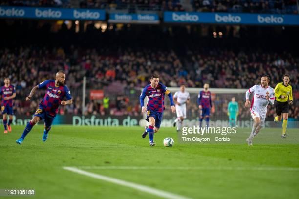 December 7: A general view of Lionel Messi of Barcelona in action during the Barcelona V Mallorca, La Liga regular season match at Estadio Camp Nou...