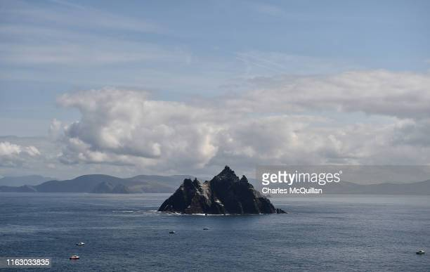 General view of little Skellig from Skellig Michael on August 21 2019 in Portmagee Ireland The island which is only accessible to visitors from May...