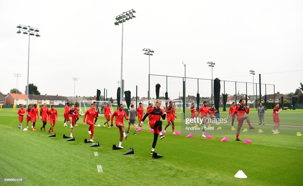 General view of Liverpool during a training session at Melwood Training Ground on July 12, 2018 in Liverpool, England.