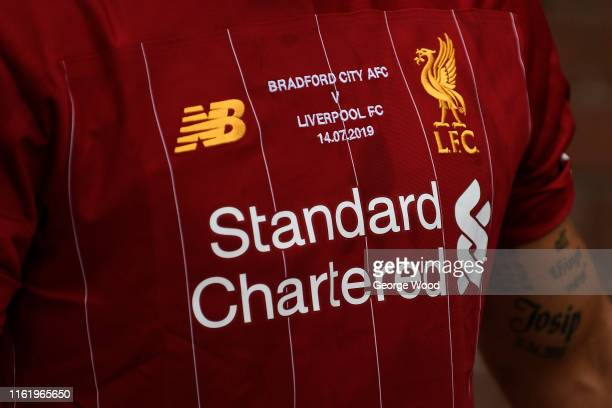 A general view of Liverpool's special edition kit during the PreSeason Friendly match between Bradford City and Liverpool at Northern Commercials...