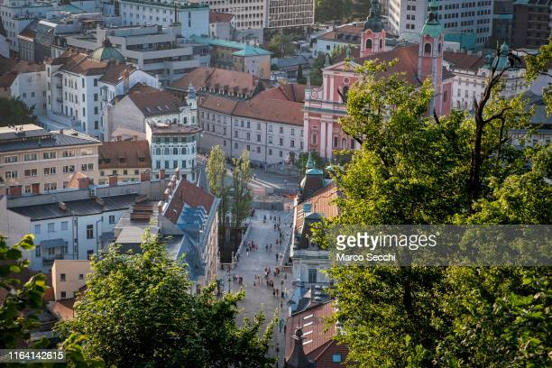 general view of ljubljana - marco secchi stock photos and pictures