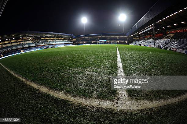 A general view of Loftus Road before the Barclays Premier League match between Queens Park Rangers and Arsenal on March 4 2015 in London England