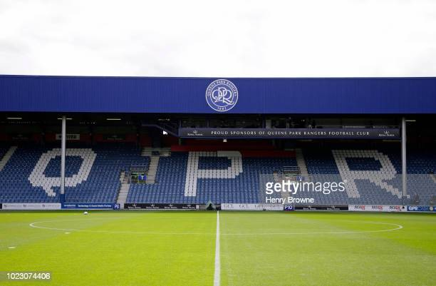 General view of Loftus Road before the Sky Bet Championship match between Queens Park Rangers and Wigan Athletic at Loftus Road on August 25 2018 in...