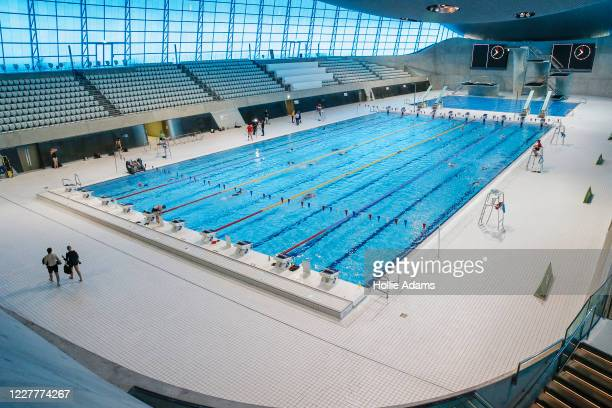 General view of London Aquatics Centre on July 25, 2020 in London, England.After further easing of the United Kingdom's coronavirus lockdown, indoor...
