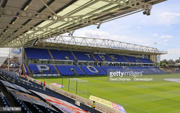 A general view of London Road Stadium home of Peterborough United FC during the Sky Bet League One match between Peterborough United and Bristol...