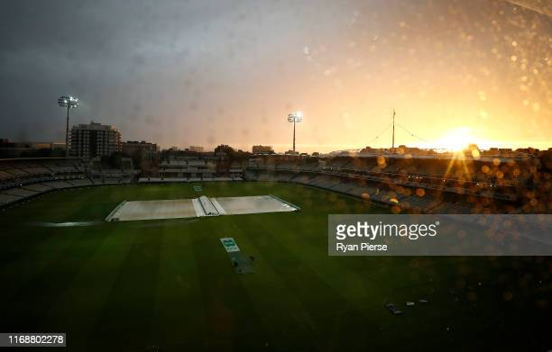 General view of Lords at sunset after the match was drawn during day five of the 2nd Specsavers Ashes Test between England and Australia at Lord's...