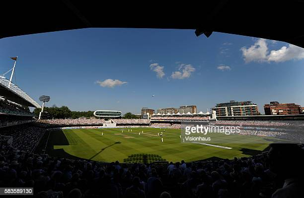 General view of Lords during Day One of the 2nd Investec Ashes Test between England and Australia at Lord's Cricket Ground in London, UK. Photo:...