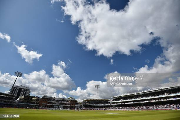 A general view of Lords during the third day of the third international Test match between England and West Indies at Lord's cricket ground in London...