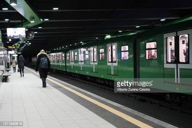 General view of Loreto underground station on March 10, 2020 in Milan, Italy. The Italian Government has taken the unprecedented measure of a...