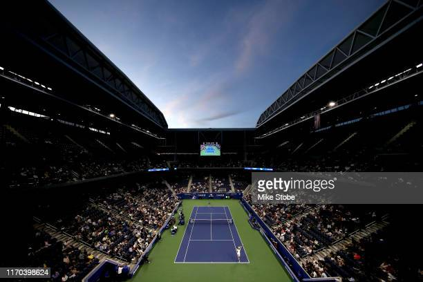 General view of Louis Armstrong stadium during the match between Stan Wawrinka of Switzerland and Jannik Sinner of Italy during day one of the 2019...