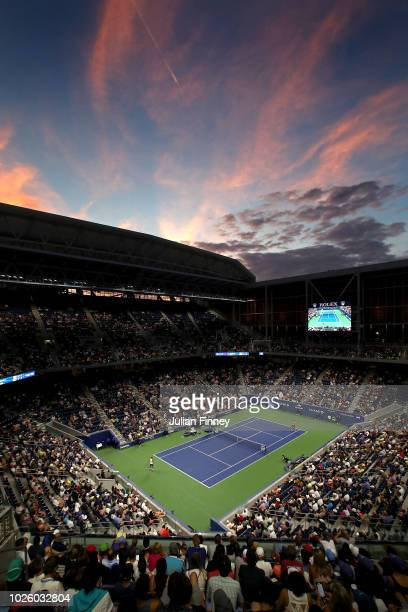 General view of Louis Armstrong Stadium during the men's singles third round match between Alexander Zverev of Germany and Philipp Kohlschreiber of...