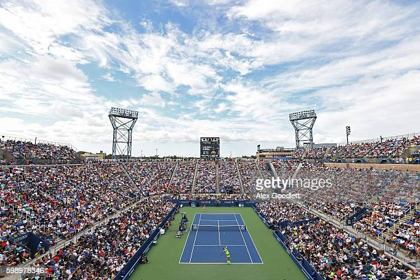 General view of Louis Armstrong Stadium during the third round Men's Singles match between Juan Martin del Potro of Argentina and David Ferrer of...