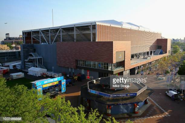 A general view of Louis Armstrong Stadium is seen prior to the start of the 2018 US Open at the USTA Billie Jean King National Tennis Center on...
