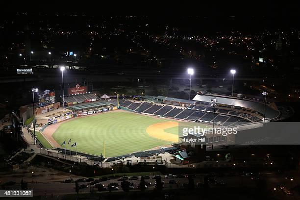 A general view of Louisville Slugger Field on July 18 2015 in Louisville Kentucky