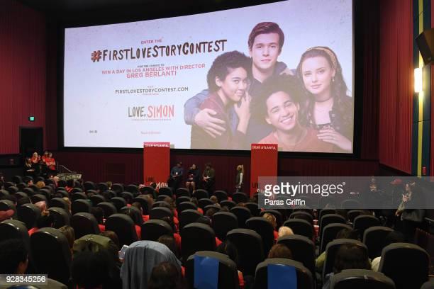 "General view of ""Love, Simon"" Atlanta Fan Screening and Q&A at Regal Atlantic Station on March 6, 2018 in Atlanta, Georgia."