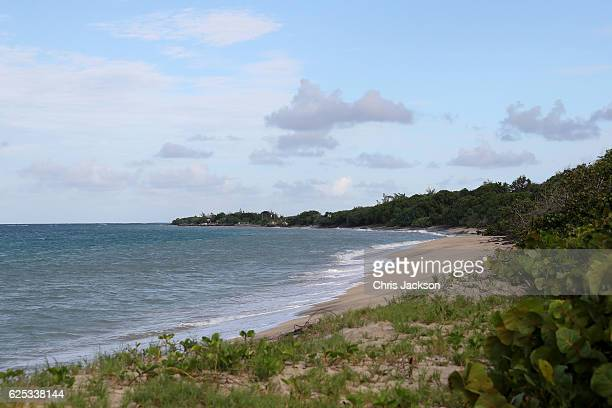General view of Lover's Beach on the Island of Nevis on the fourth day of an official visit on November 23 2016 in Saint Kitts and Nevis Prince...