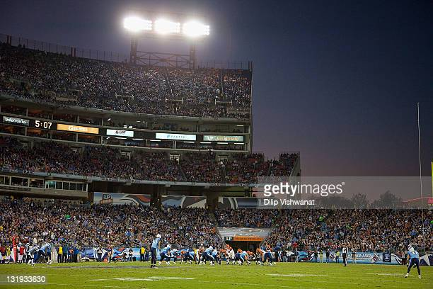 A general view of LP Field as the Cincinnati Bengals play against the Tennessee Titans on November 6 2011 in Nashville Tennessee