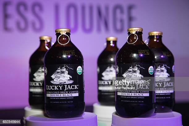 General view of Lucky Jack Double Black Cold Brew Coffee Tone It Up Wellness Lounge during the Sundance Film Festiva on January 21 2017 in Park City...