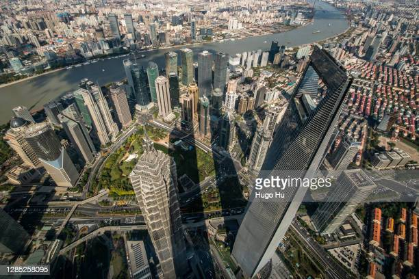 A general view of Lujiazui of Pudong on November 12 2020 in Shanghai China