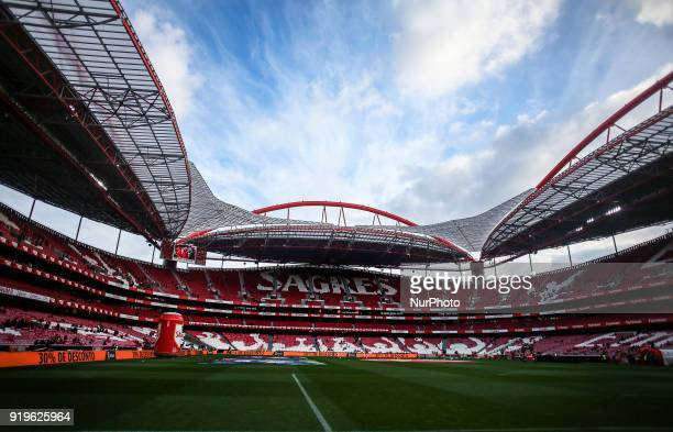 General view of Luz Stadium during the Portuguese League football match between SL Benfica and Boavista FC at Luz Stadium in Lisbon on February 17...