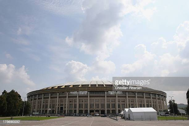 General view of Luzhniki Stadium ahead of the 14th IAAF World Championships at on August 6 2013 in Moscow Russia
