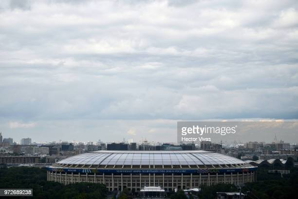 General view of Luzhniki stadium ahead of the 2018 FIFA World Cup on June 10 2018 in Moscow Russia