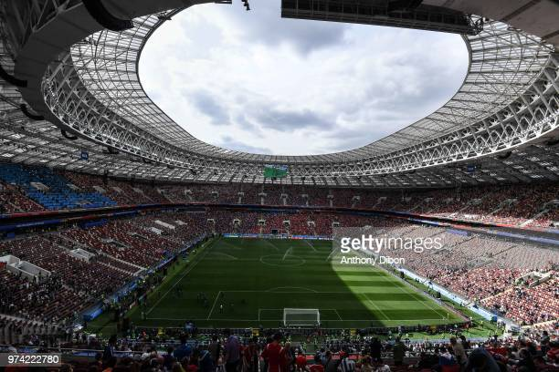 General view of Luzhniki stadium during the 2018 FIFA World Cup Russia group A match between Russia and Saudi Arabia at Luzhniki Stadium on June 14...