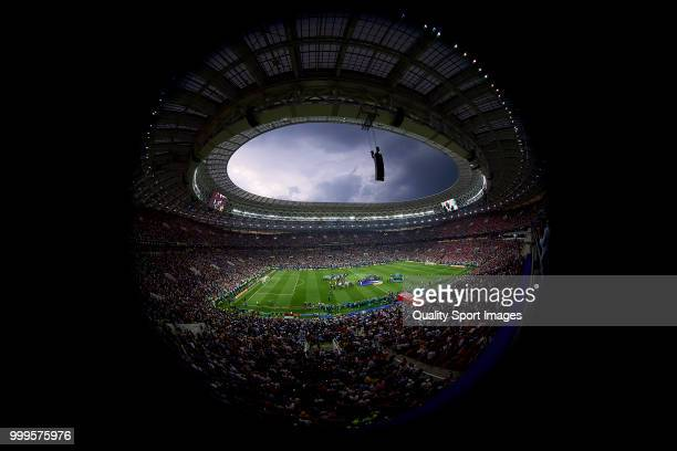 General view of Luzhniki Stadium during the 2018 FIFA World Cup Russia Final between France and Croatia at Luzhniki Stadium on July 15 2018 in Moscow...